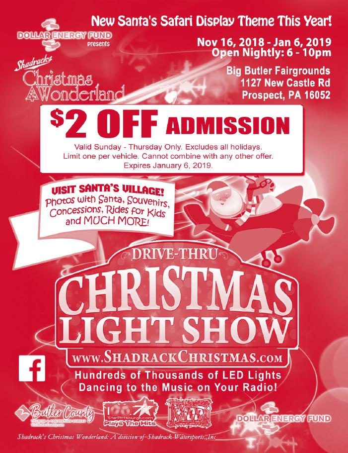 Shadracks Christmas Wonderland Butler 2019 Dollar Energy Fund presents Shadrack's Christmas Wonderland
